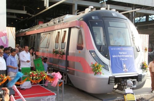 India S First Driverless Metro Train On Test In Delhi