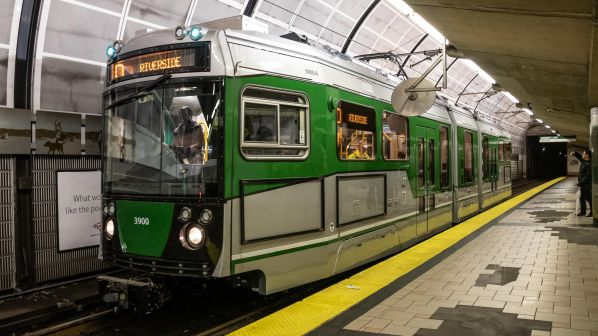 First Green Line LRVs enter service in Boston