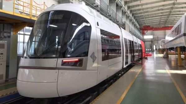 CRRC presents first Tel Aviv Red Line LRV