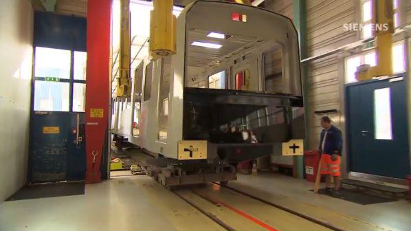 Siemens presents first Vienna U-Bahn Type X bodyshell